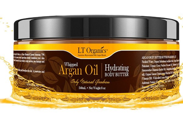 LT Organics Natural Whipped Argan Oil Body Butter Tub